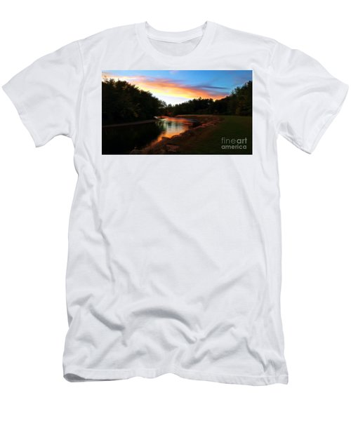 Sunset On Saco River Men's T-Shirt (Athletic Fit)