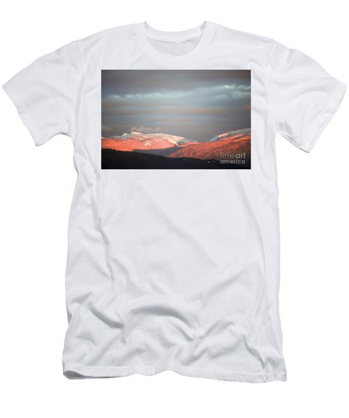 Men's T-Shirt (Slim Fit) featuring the photograph Sunset On The Monashees by Victor K