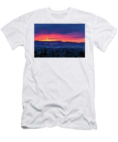 Sunset Over Marquam Hill Men's T-Shirt (Athletic Fit)