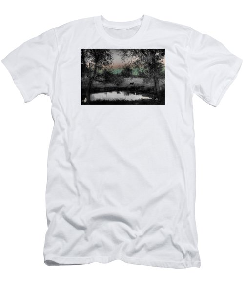 Sunset Over The Pond Men's T-Shirt (Slim Fit) by Karen McKenzie McAdoo