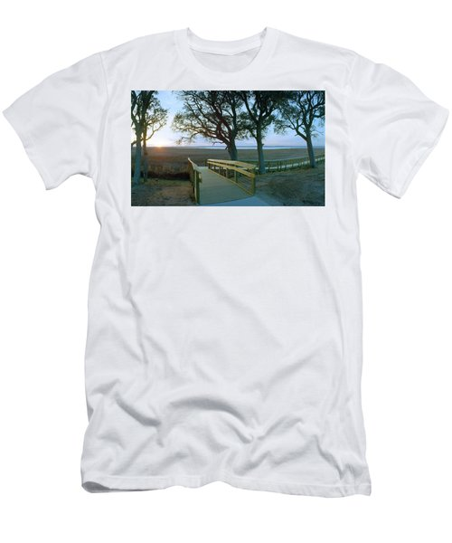 Sunset Over The Sound Men's T-Shirt (Slim Fit) by Jan W Faul