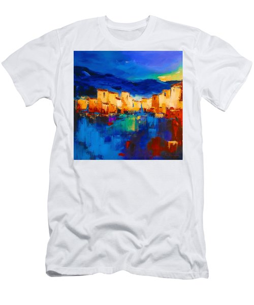Sunset Over The Village Men's T-Shirt (Athletic Fit)