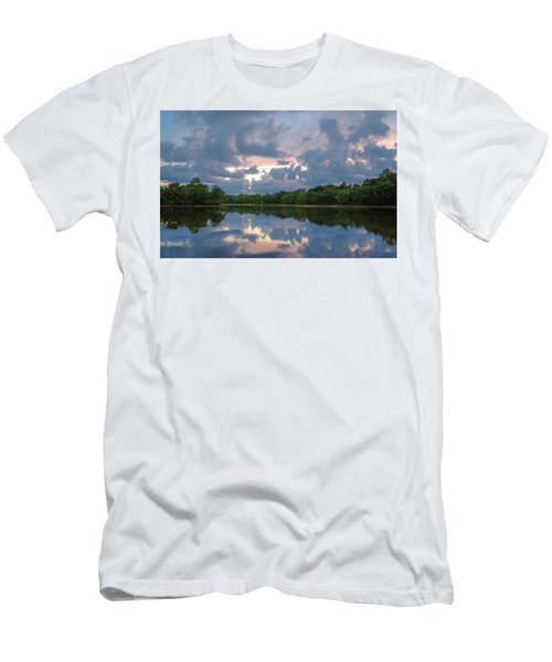 Men's T-Shirt (Athletic Fit) featuring the photograph Sunset Reflections by Lori Coleman