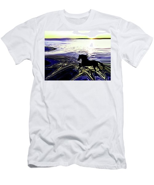 Sunset Splash At Edmonds Washington Men's T-Shirt (Athletic Fit)