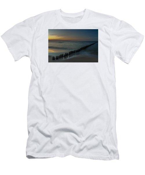Men's T-Shirt (Slim Fit) featuring the photograph Sunset Zen Mood Seascape by Julis Simo