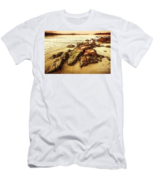 Sunsets And Sea Stones Men's T-Shirt (Athletic Fit)