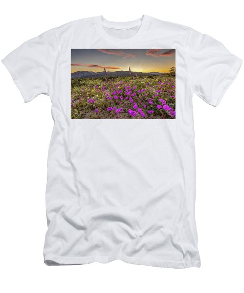 Men's T-Shirt (Slim Fit) featuring the photograph Super Bloom Sunset by Peter Tellone