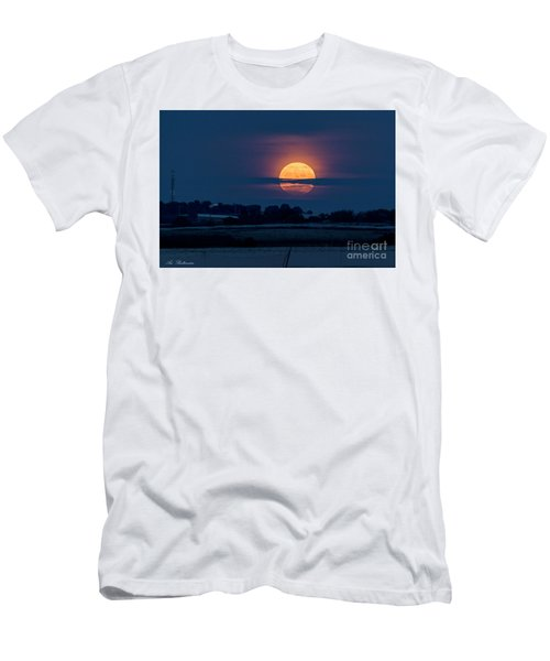 Super Moon Men's T-Shirt (Slim Fit) by Arik Baltinester