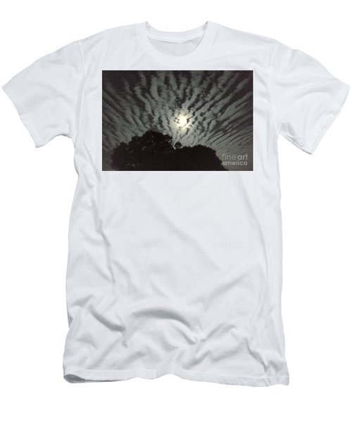 Men's T-Shirt (Slim Fit) featuring the photograph Super Moon by Irma BACKELANT GALLERIES