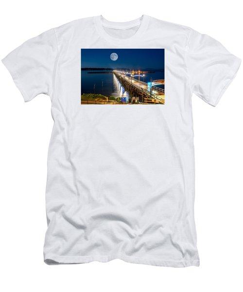Super Moon Over White Rock Men's T-Shirt (Athletic Fit)