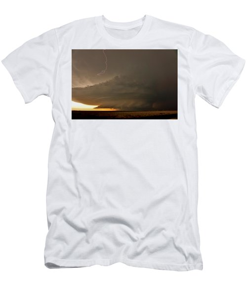 Supercell In Kansas Men's T-Shirt (Slim Fit) by Ed Sweeney