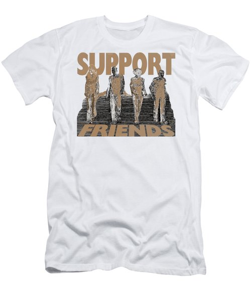 Support Friends Men's T-Shirt (Athletic Fit)