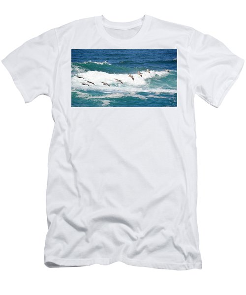 Surf And Pelicans Men's T-Shirt (Athletic Fit)
