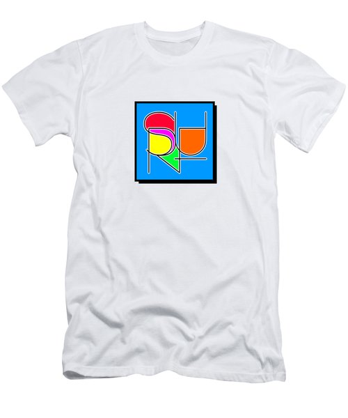 Surf In Abstract Men's T-Shirt (Athletic Fit)