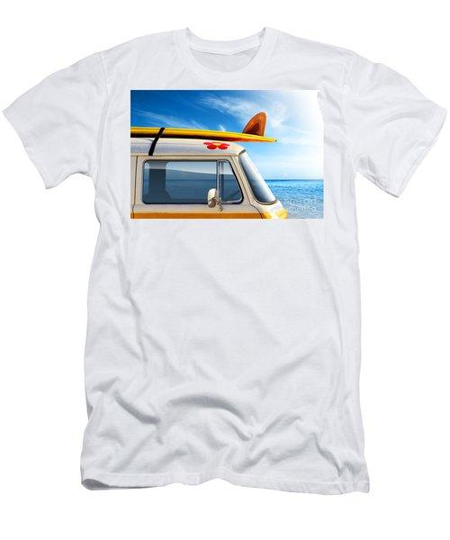 Surf Van Men's T-Shirt (Slim Fit) by Carlos Caetano