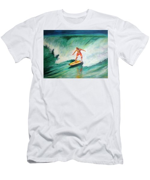 Surfer Dude Men's T-Shirt (Slim Fit) by Patricia Piffath