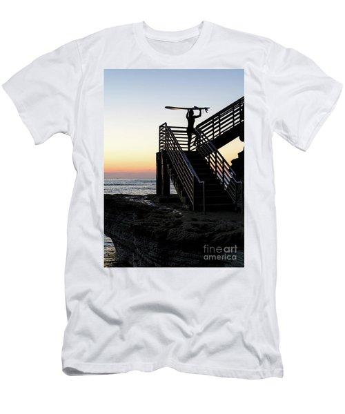 Surfer, Sunset Cliffs, San Diego, California  -74759 Men's T-Shirt (Athletic Fit)