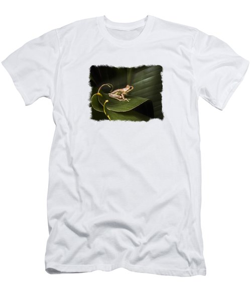 Men's T-Shirt (Slim Fit) featuring the photograph Surfing The Wave Bordered by Debra and Dave Vanderlaan