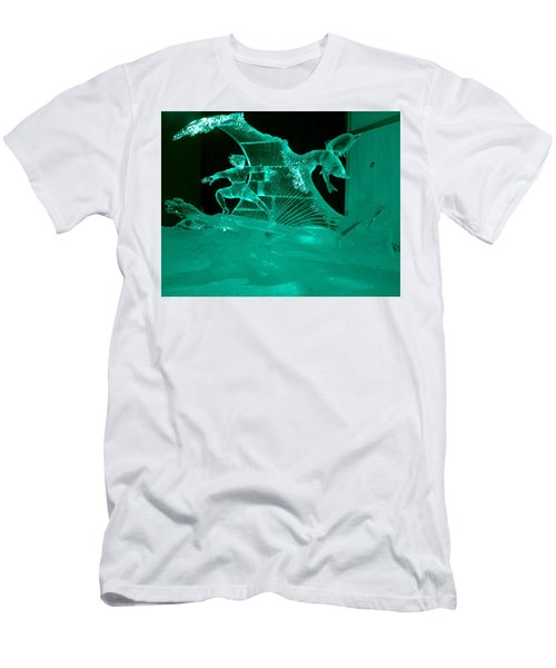 Surfing With Dolphins Men's T-Shirt (Athletic Fit)