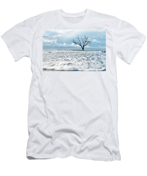 Men's T-Shirt (Slim Fit) featuring the photograph Surfside Tree by Phyllis Peterson