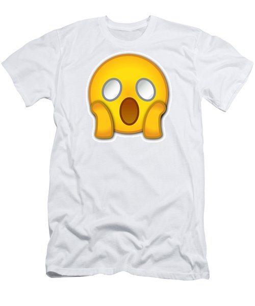 Surpriesd Smiley Men's T-Shirt (Athletic Fit)