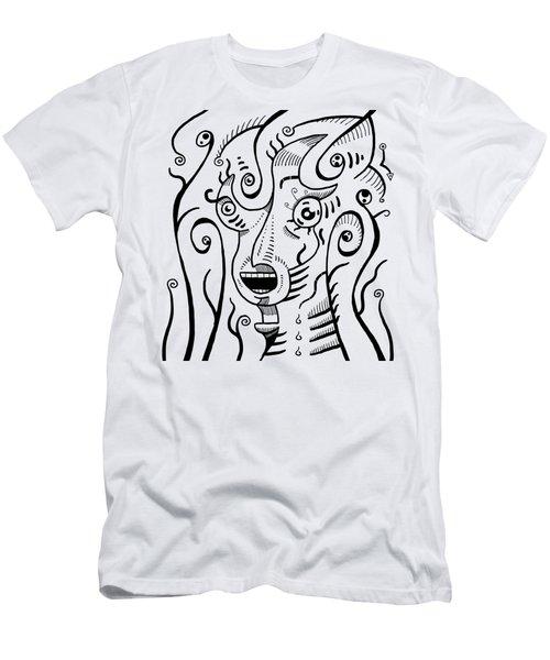 Surreal Scream Men's T-Shirt (Athletic Fit)