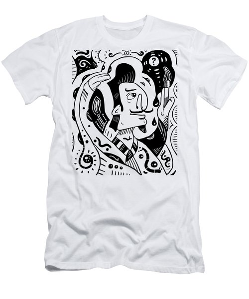 Surrealism Painter Men's T-Shirt (Athletic Fit)