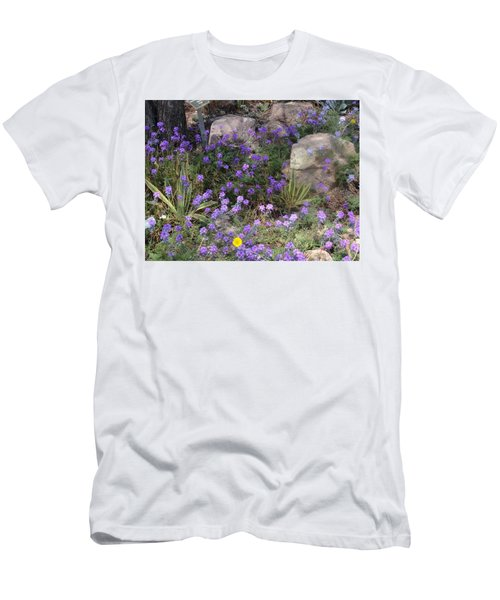 Surrounded By Purple Flowers Men's T-Shirt (Athletic Fit)