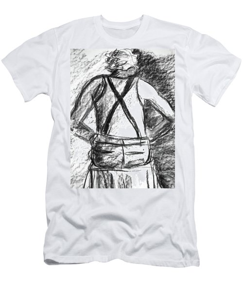 Men's T-Shirt (Slim Fit) featuring the painting Suspenders by Cathie Richardson