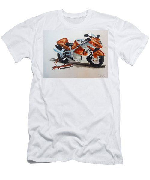 Men's T-Shirt (Athletic Fit) featuring the painting Suzuki Hayabusa by Richard Le Page