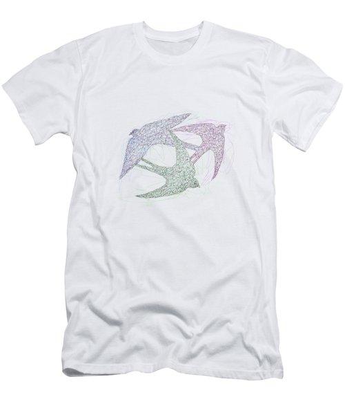 Swallow Birds Motion Design  Men's T-Shirt (Athletic Fit)