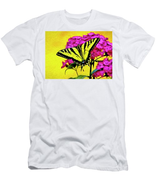 Swallow Tail Feeding Men's T-Shirt (Athletic Fit)