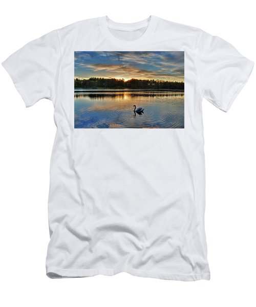Swan At Sunset Men's T-Shirt (Athletic Fit)