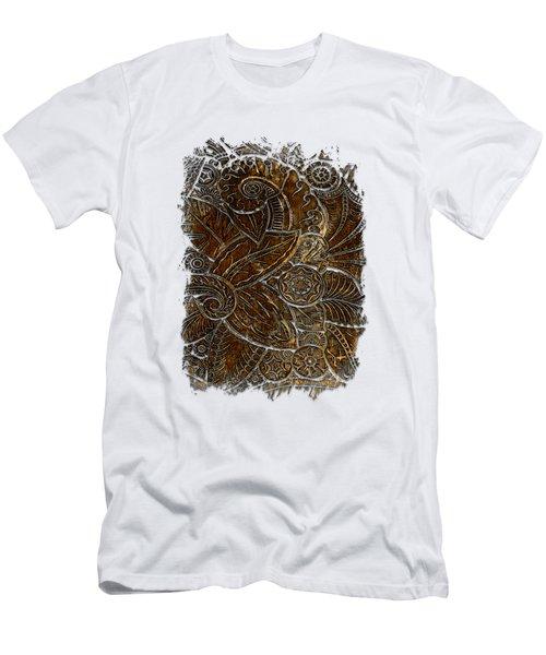 Swan Dance Earthy 3 Dimensional Men's T-Shirt (Slim Fit) by Di Designs