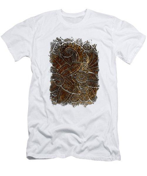 Swan Dance Earthy 3 Dimensional Men's T-Shirt (Athletic Fit)
