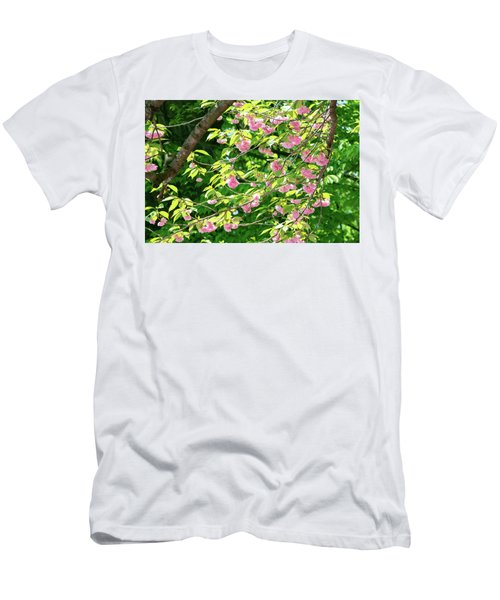 Sweeping Cherry Blossom Branches Men's T-Shirt (Athletic Fit)