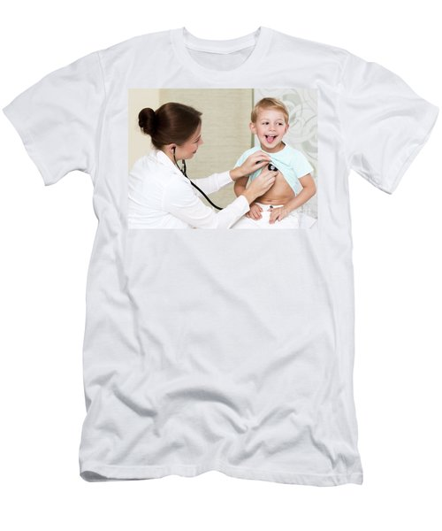Sweet Child Visiting Doctor Men's T-Shirt (Athletic Fit)