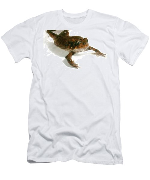 Men's T-Shirt (Slim Fit) featuring the digital art Swimming Toad by Barbara S Nickerson