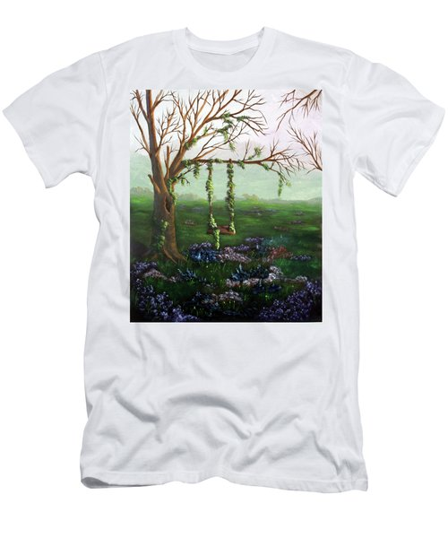 Swingin' With The Flowers Men's T-Shirt (Athletic Fit)