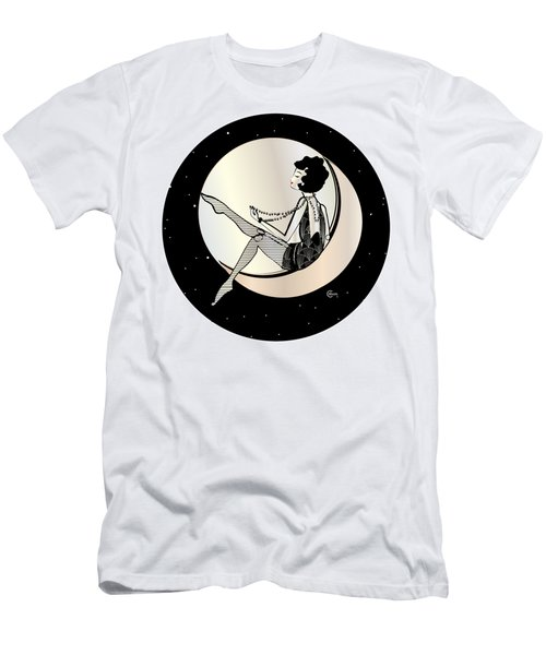 Swinging On The Moon Men's T-Shirt (Athletic Fit)