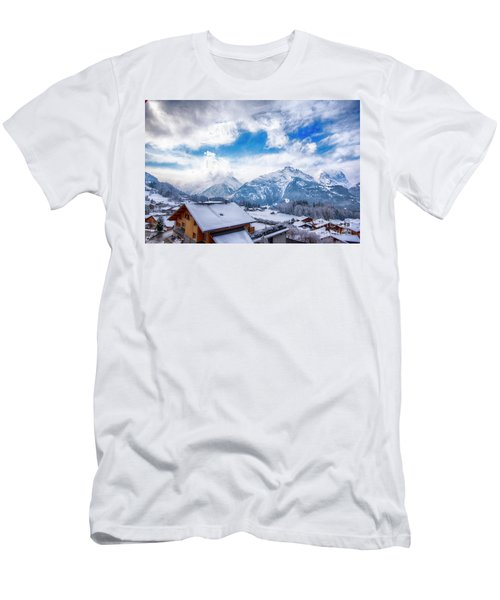 Swiss Alps Men's T-Shirt (Slim Fit) by Pravine Chester