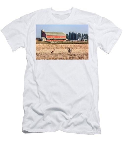 Swiss Cranes Men's T-Shirt (Athletic Fit)