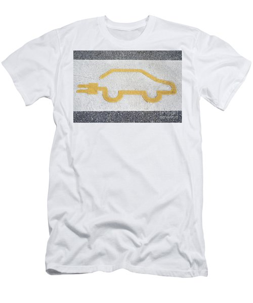 Symbol For Electric Car Men's T-Shirt (Athletic Fit)