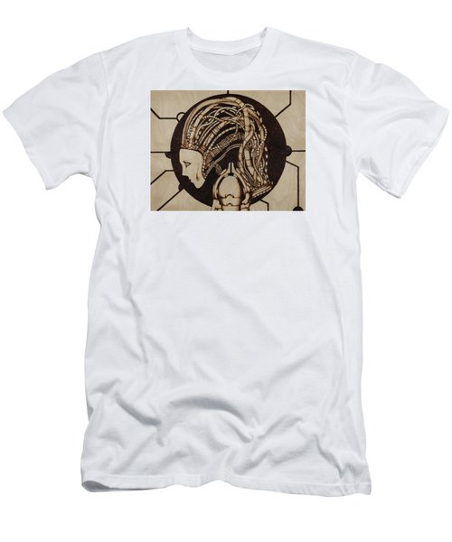 Men's T-Shirt (Slim Fit) featuring the pyrography Synth by Jeff DOttavio