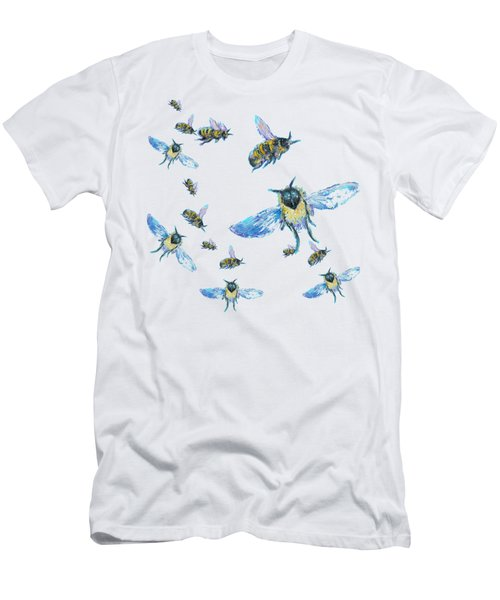T-shirt With Bees Design Men's T-Shirt (Athletic Fit)