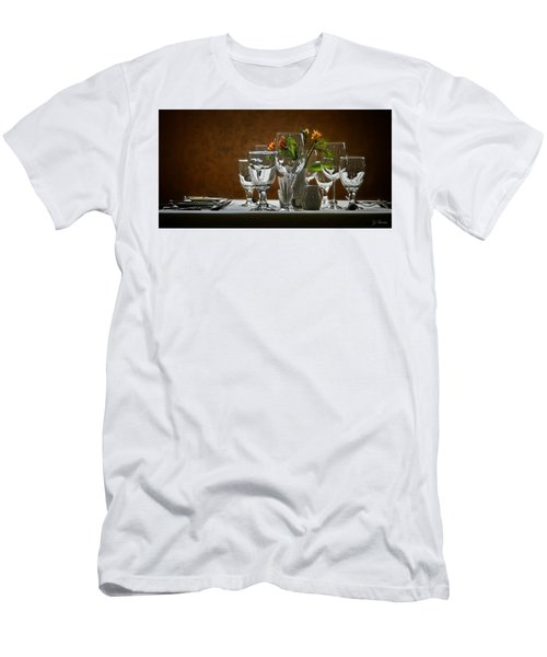 Men's T-Shirt (Slim Fit) featuring the photograph Table Setting by Joe Bonita
