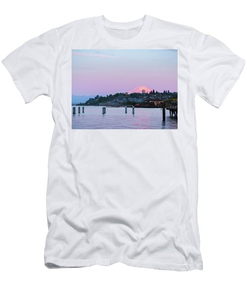 Tacoma Sunset Men's T-Shirt (Slim Fit) by Ken Stanback