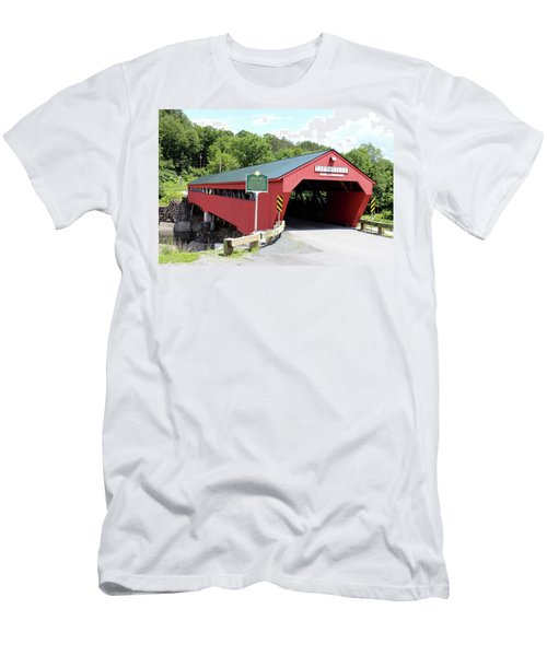 Taftsville Covered Bridge Men's T-Shirt (Athletic Fit)