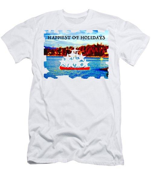 Tahoe Christmas Men's T-Shirt (Athletic Fit)