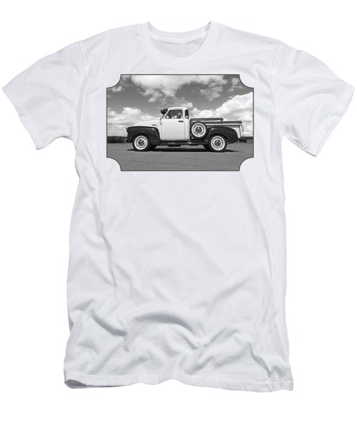 Take Me With You - Black And White Men's T-Shirt (Athletic Fit)